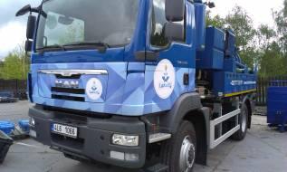 polep vozu likvidace odpadů, Elgo