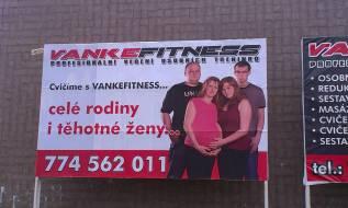 Tisk a lepení billboardu - Vankefitness