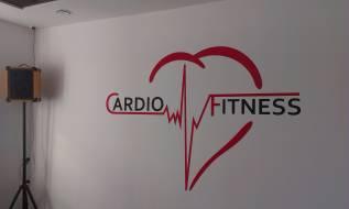 Malba loga na fasádu - Cardio fitness, Česká Spořitelna