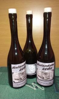 originální reklamní lahve na víno s vinětou - Blažek a synové