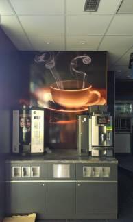 Polep kafé koutku - ČS Hrdlořezy - Vendys & V